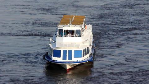 White Pleasure Boats stock footage