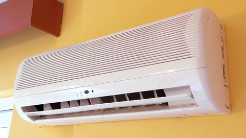 Air conditioner operating Footage