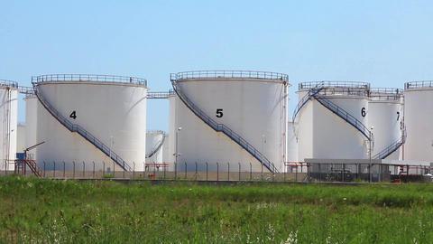 Oil storage tanks in Antalya, Turkey Footage