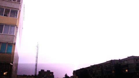 Stormy night Footage
