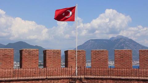 Kizil Kule - Red Tower Alanya, Turkey Footage