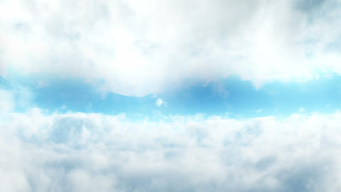 Flight in clouds. Loopable background Animation