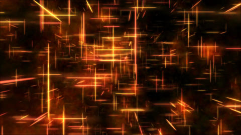 Travel through a grid of light beams - Loop Orange Animation