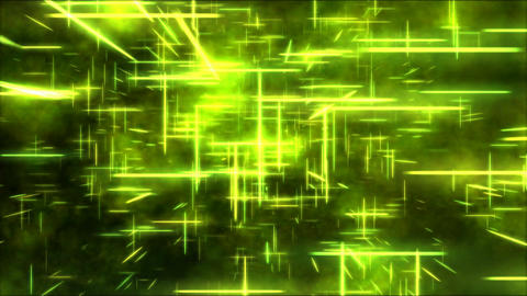 Travel through a grid of light beams - Loop Yellow Animation