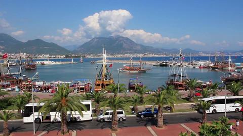Harbour, Alanya, Turkey Footage