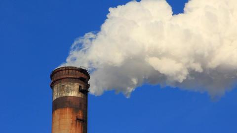 Heat electropower station chimney Footage