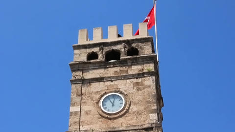 Antalya Clock Tower, Turkey Footage