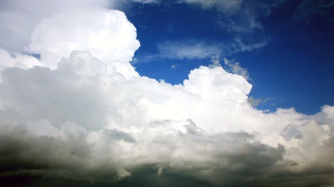 Storm clouds. Timelapse 1080p. Video without birds Footage