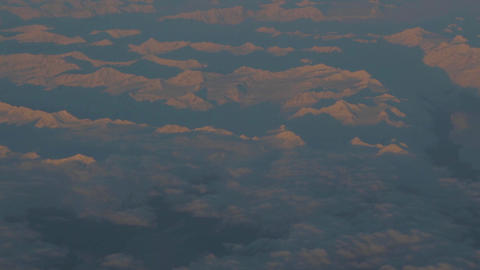 Aerial - Sun Son Canadian Snow Mountain Range stock footage