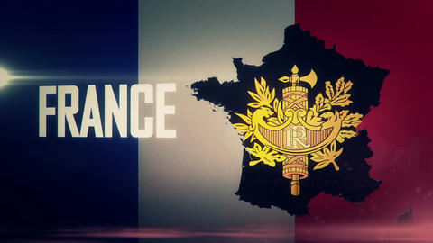 TV opener, Country: France (with national emblem) Animation