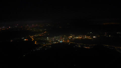 Evening - Hong Kong From Airplane stock footage