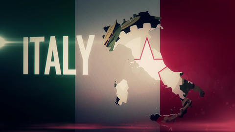 TV opener, Country: Italy (with national emblem) Animation