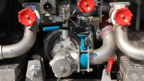 Fire engine hydraulic system Footage