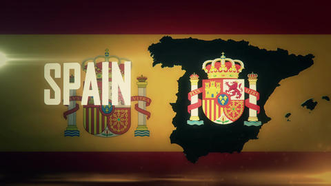 TV opener, Country: Spain (with national emblem) Animation