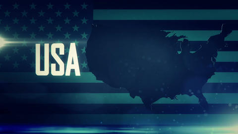 TV opener, Country: USA (with national emblem) Animation