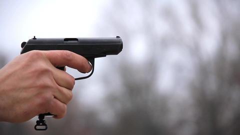 Black pistol Footage