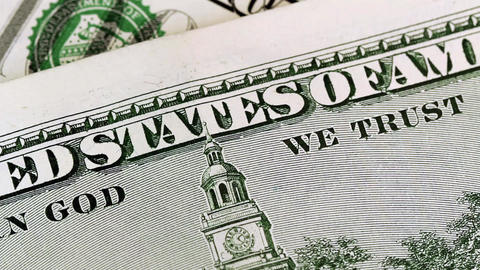 In God We Trust stock footage