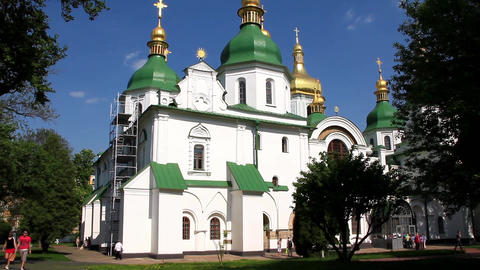 Saint Sophia cathedral in Kiev, Ukraine Footage