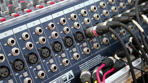 Audio production console sockets Footage