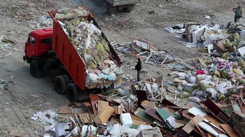 Dumper on landfill Footage