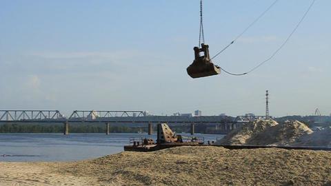 Unloading of sand Footage