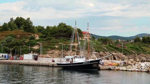 Ship at shore Footage