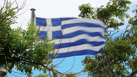 Flag of Greece Footage