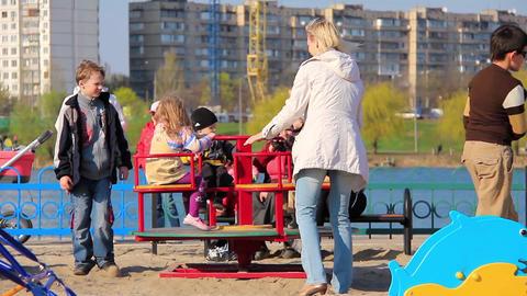 New children's playground Footage
