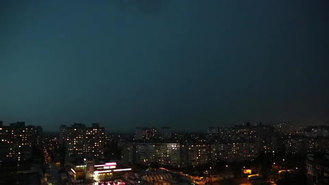 Lightning strikes timelapse Footage