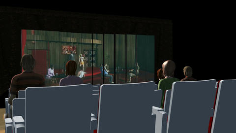 Inside Movie Theater (Rear Shot): Animated+ Loopin Stock Video Footage