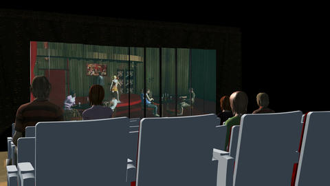 Inside Movie Theater (Rear Shot): Animated+ Loopin stock footage