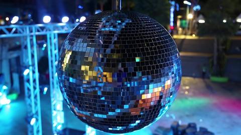 Spinning glitterball Footage