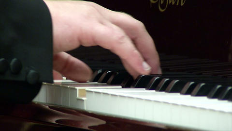 Musical Instrument, The Piano During A Performance stock footage
