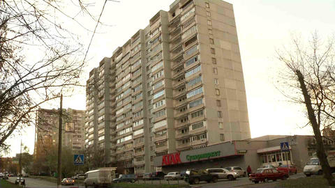 Residential Building In One Of The Areas In Which  stock footage