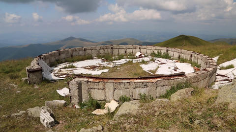 Ruins of an astronomical observatory in Carpathian Mountains, Ukraine Footage