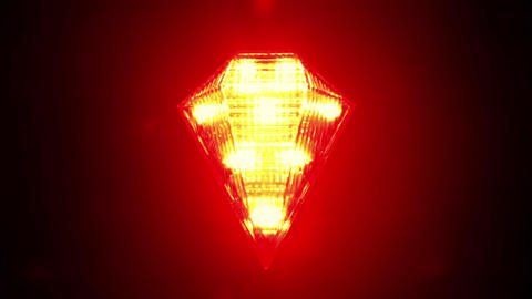 Flashing Red Signal Lamp For Bicycle stock footage