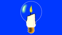 CANDLE IN THE LIGHT BULB Animation