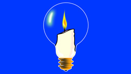 CANDLE IN THE LIGHT BULB Stock Video Footage