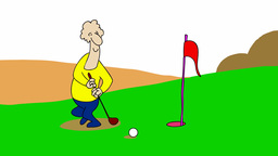 GOLFER Stock Video Footage