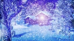 Christmas Snowy Scene 01 snowing Animation
