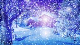 Christmas Snowy Scene 01 snowing Stock Video Footage