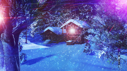 Christmas Snowy Scene 03 snowing Stock Video Footage