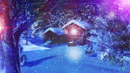 Christmas Snowy Scene 03 snowing Stock Video Footage