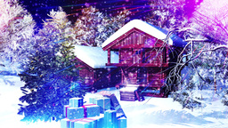 Christmas Snowy Scene 10 snowing Stock Video Footage