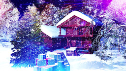 Christmas Snowy Scene 10 snowing Animation