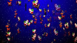 Christmas 07 santa reindeer Stock Video Footage