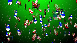 Christmas 09 santa snowmen Stock Video Footage