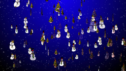 Christmas 19 tree snowmen Animation