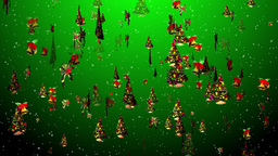 Christmas 21 tree bell holly Stock Video Footage