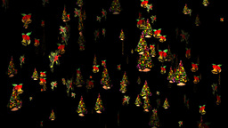 Christmas 23 alpha tree bell holly Stock Video Footage